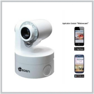 Camera IP VisionCam Wifi, motorisee,V 5.5, Couleur Blanc